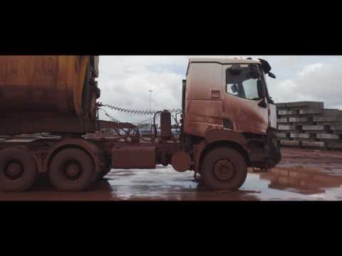 Robustness produced by Renault Trucks K in a mine in Guinea