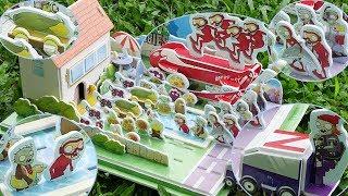 Part 3 - Let's Build DIY Plants VS Zombies PVZ Backyard Pool Stage Diorama Zomboni Cob Cannon thumbnail