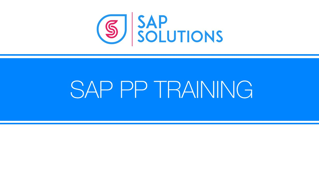 SAP PP Demo by SAPSOLUTIONS - YouTube