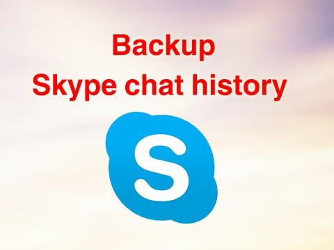 Backup Skype Chat History - حفظ سجل محادثات سكايب