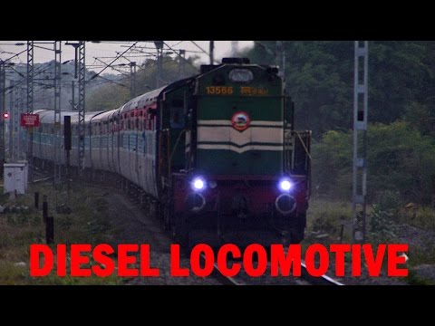 DIESEL LOCOMOTIVE Sound at FULL THROTTLE - Indian Railways Video
