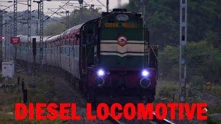 DIESEL LOCOMOTIVE Sound at FULL THROTTLE - Indian Railways Video