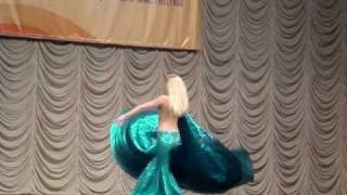 "Веста-танец живота  -  Шоу-номер ""Русалка"" - Vesta show belly dance"