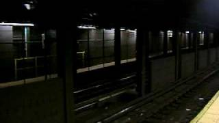 MTA New York City Subway R-44 A Train Speed to 42 St-Port Authority Bus Terminal