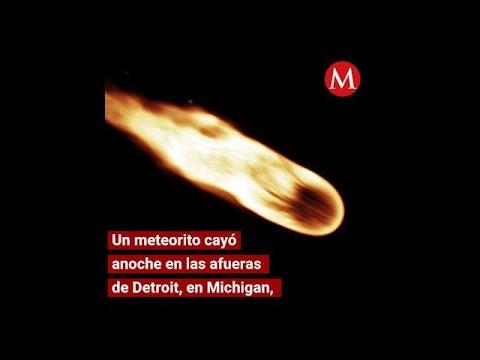 Cae un meteorito cerca de Detroit, Michigan; causa sismo
