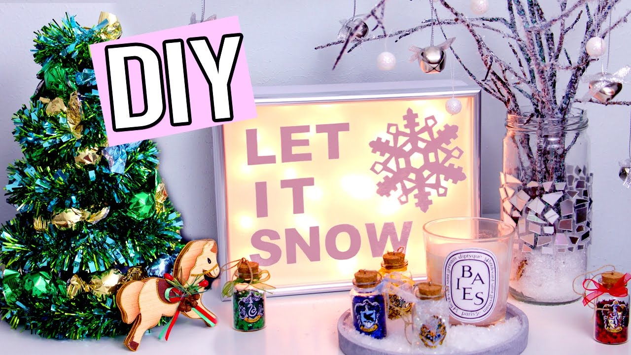 Lovely Christmas Decorations Up Part - 2: DIY WINTER/Christmas Decorations! Light Up Sign, Edible Tree U0026 More! Cute  Holiday Projects! - YouTube