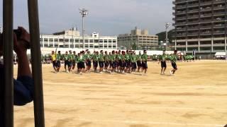2012.9.20 広島皆実高校 運動会 サッカー部によるサプライズ?演技