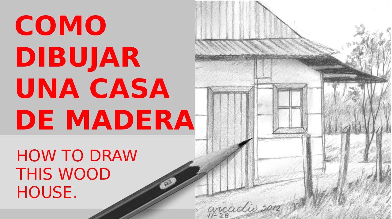 COMO DIBUJAR ESTA CASITA DE MADERA/HOW TO DRAW THIS WOOD