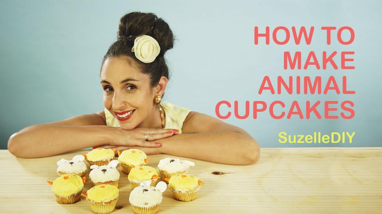 SuzelleDIY How To Make Animal Cupcakes YouTube
