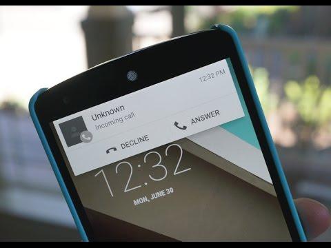 ► Llamadas entrantes estilo Android Lollipop 5.0 - AndroidStudios