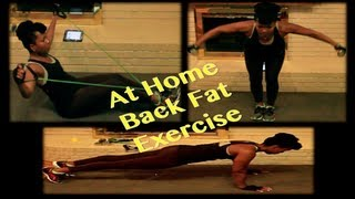 EASY At Home Back Fat Exercises| Lose Your Muffin Top ★Dr. BBBD Vlog 5★