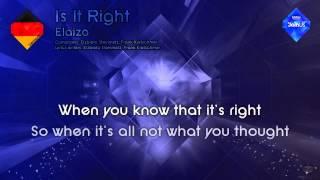 """Elaiza - """"Is It Right"""" (Germany)"""