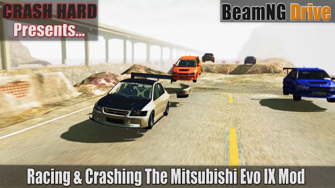 BeamNG Drive - Racing & Crashing The Mitsubishi Evo IX Mod