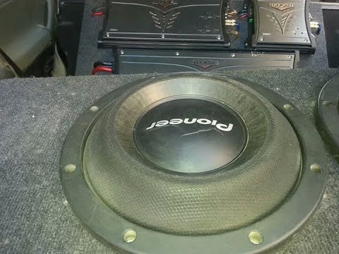 1400 Watt Rms Of Bass SPL 2Pioneer Subwoofer Ts-w2000SPL