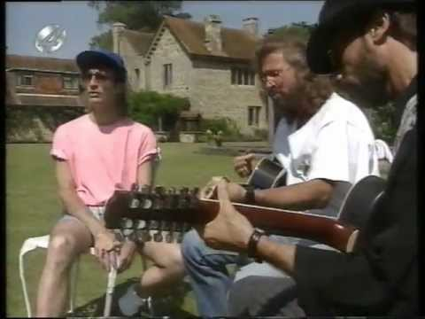 BEE GEES Interview in the garden