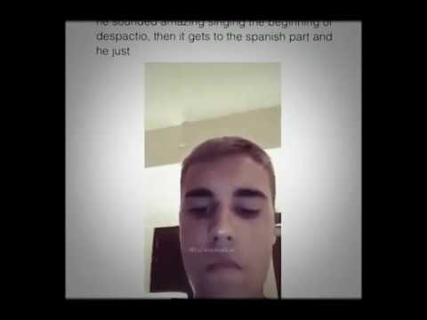 Justin bieber sings Despacito without music!!!