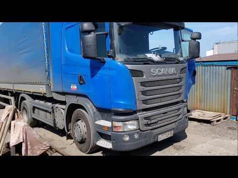 Замена задних подушек кабины на Scania G4OO 2O16 г в.