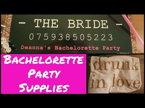 Bachelorette Party Decor, Supplies And Ideas!