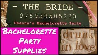 Bachelorette Party Decor, Supplies and Ideas!