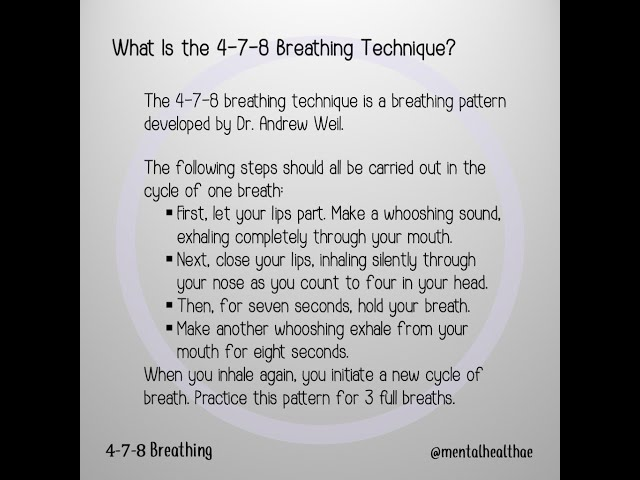 4-7-8 Breathing Technique - Animation