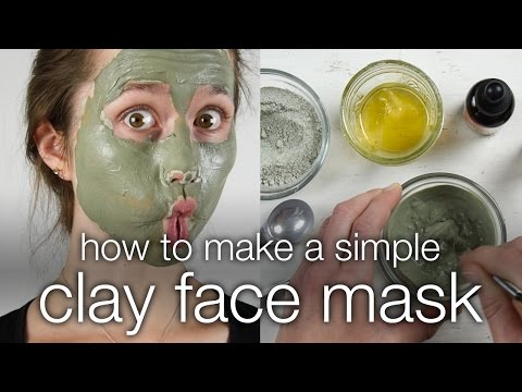 How to make a face mask out of bentonite clay