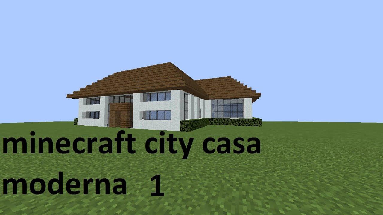 Minecraft city como contruir a casa moderna 1 youtube for Casa moderna naga city prices