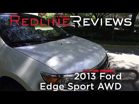 2013 ford edge sport awd walkaround exhaust review test drive youtube. Black Bedroom Furniture Sets. Home Design Ideas