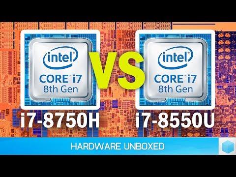 Intel Core i7-8750H vs Core i7-8550U Benchmark Battle