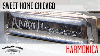 Sweet Home Chicago on harmonica in E + Free Backing Track