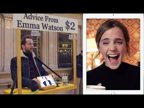 Emma Watson Gives Strangers Advice for $2 at Grand Central  Vanity Fair