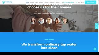 Melano Aqua Filters and Drinking Water Delivery WordPress Theme
