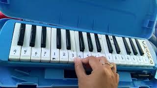 "Not angka pianika lagu wajib Nasional ""Syukur"""