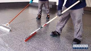 Garage Floor Coating Application Process