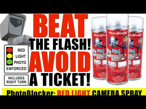 Photoblocker Spray Review >> Cam Blocker Stealth License Plate Cover Stop Red Light ... | Doovi