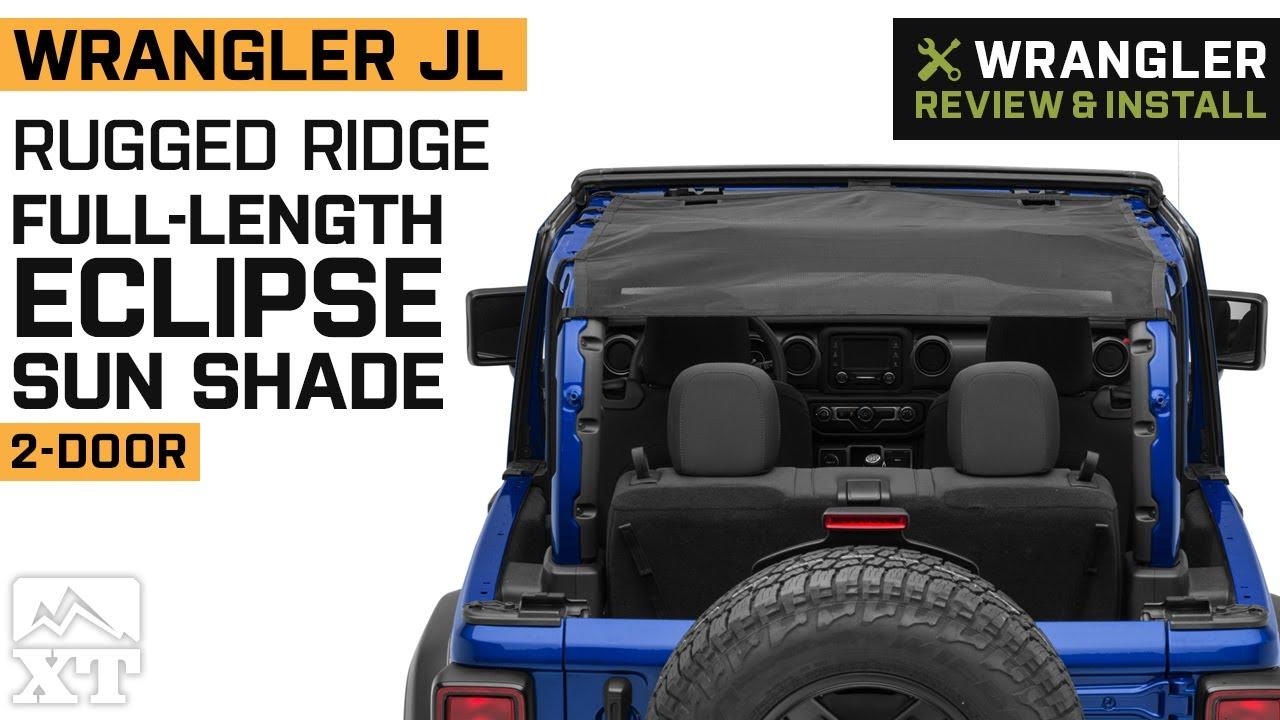 Rugged Ridge Eclipse Sun Shade Full Black; 18-19 Jeep Wrangler JL 2-Dr 13579.75