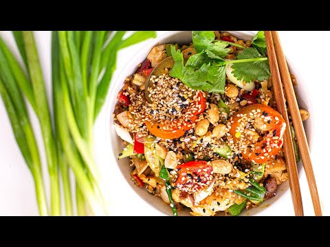 How To Make Peanut Fried Rice with Everything or Anything By Rachael
