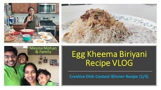 Egg Kheema Biriyani  VLOG Recipe in Tamil  Creative Dish Contest Winner Recipe (14)