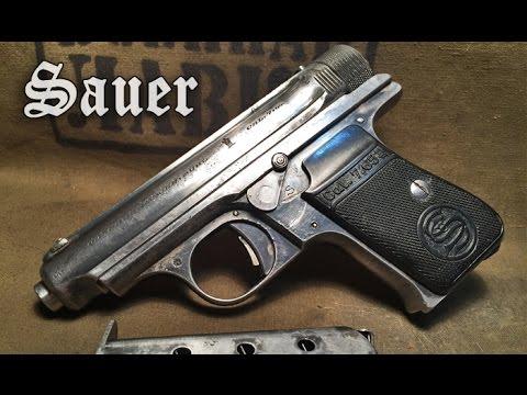 Пистолет Sauer 1930. Неполная разборка, описание