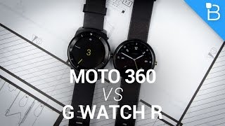 LG G Watch R vs Motorola Moto 360!(LG G Watch R vs Motorola Moto 360! Get $5 off your first Harry's purchase: http://www.harrys.com (Coupon Code: TECHNO) Moto 360 Review: http://bit.ly/Xqaifn ..., 2014-11-05T01:00:02.000Z)