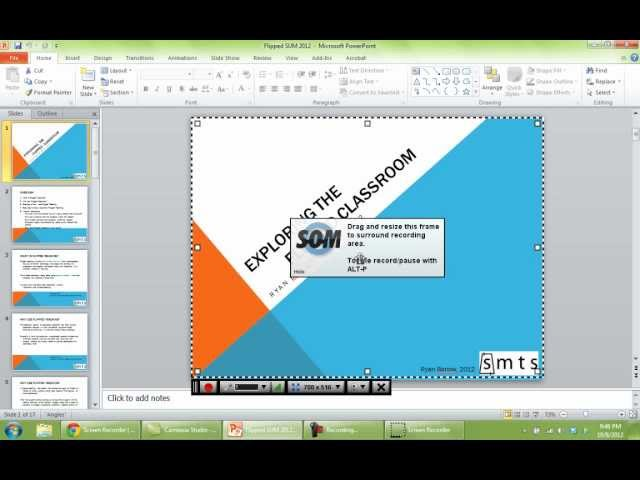 Creating a Lecture Video using Screencast-o-matic