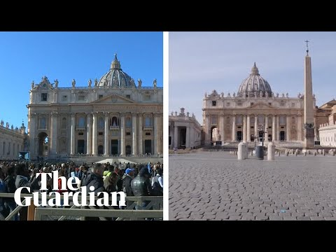 St Peter's Square before and after Italy's coronavirus lockdown