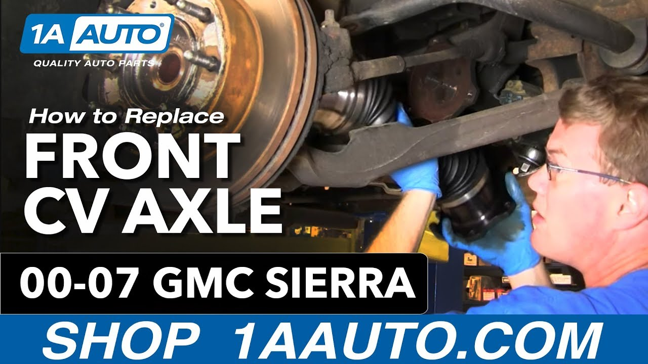 medium resolution of how to install replace front axle cv joint chevy silverado suburban gmc sierra 00 07 1aauto com