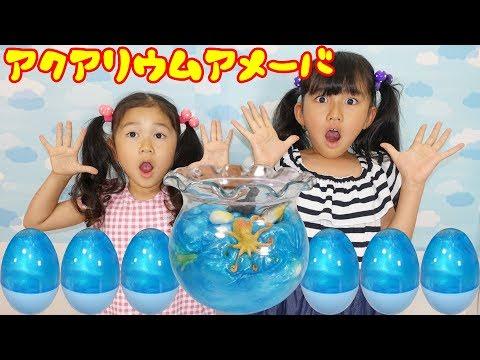 アクアリウムアメーバ☆スライムのサプライズエッグ?を開けてみると...himawari-CH