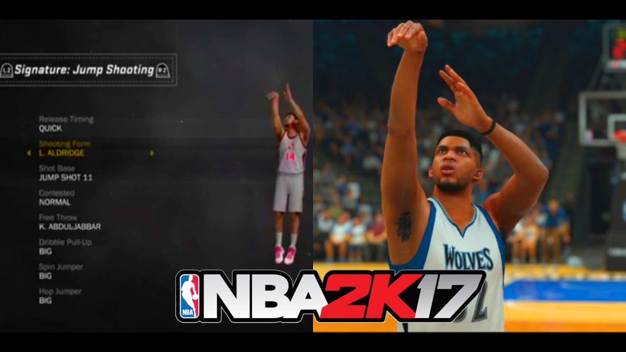 GOT NBA 2k17 EARLY ! All Jump Shot Forms & Base Animations ...