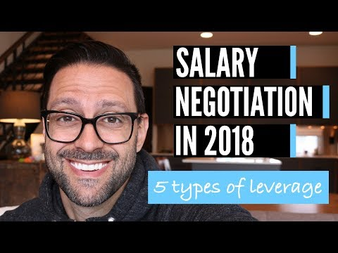 Salary Negotiation (2018) - 5 Types Of Leverage To Get A Better Offer