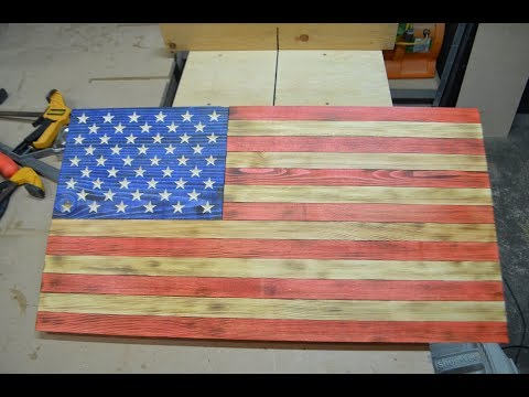 Building American Flag out of Wood