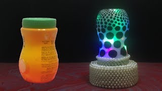 DIY  Table Lamp Made out of Recycled Plastic container