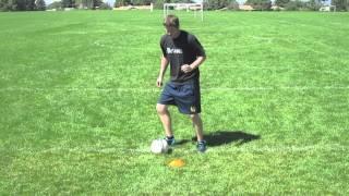 Improving Soccer Foot Skills - V-Cut