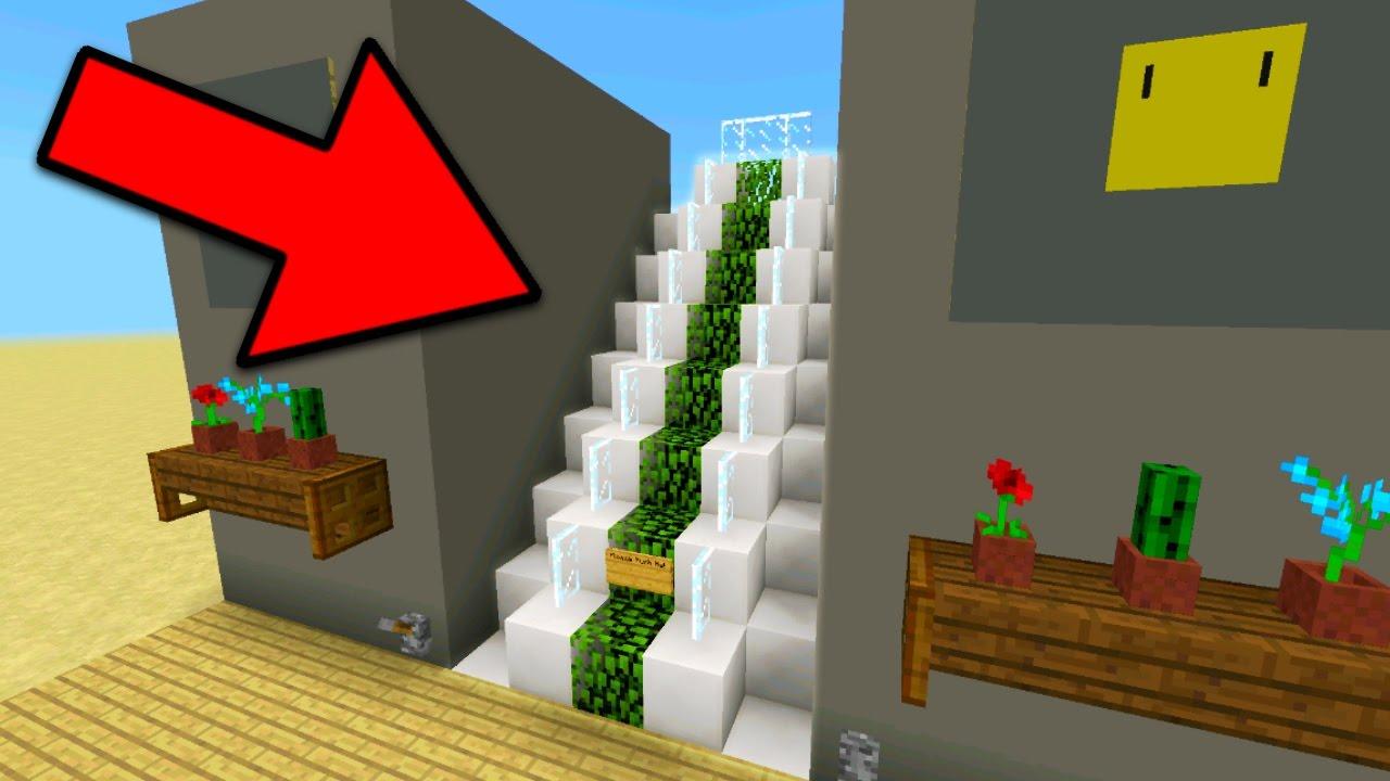 Working escalator in minecraft pocket edition