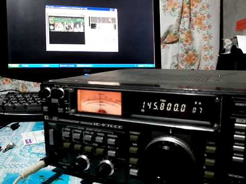 145 800 MHz SSTV signal reception from ISS (April 11, 2018)